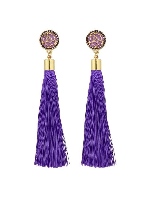 Купить Фиолетовые оригинальные серьги-подвески, null, SheIn