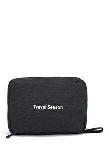 Letter Print Travel Wash Bag