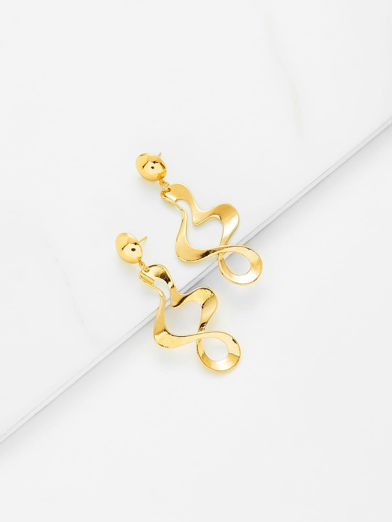 Metal Wrap Design Drop Earrings metal hand design drop earrings