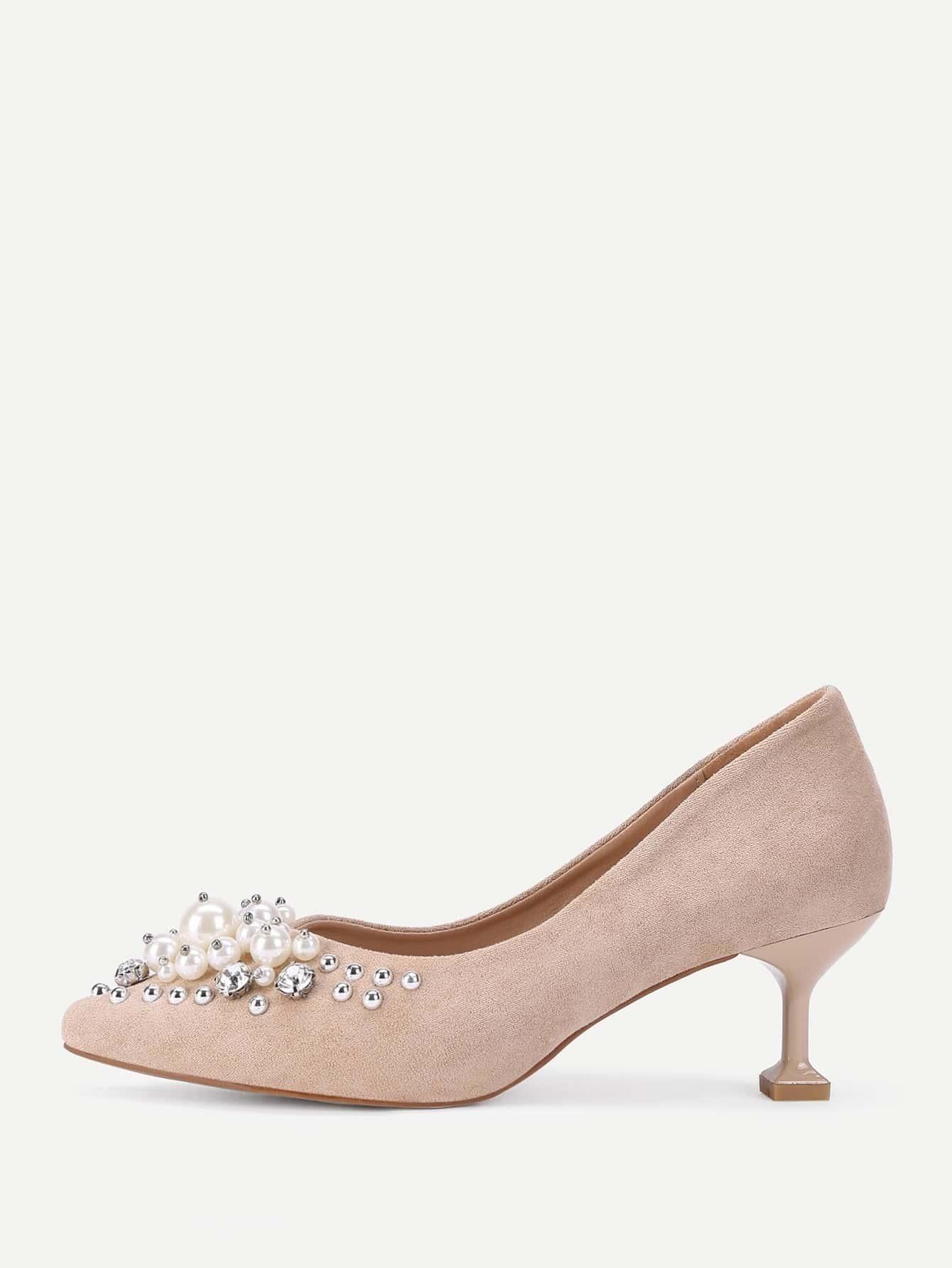 chaussures talons aiguilles en su d pointues avec bijou