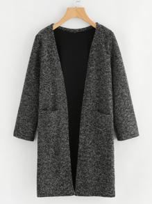 Dual Pocket Long Knit Cardigan