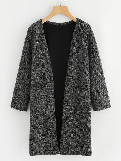 Dual Pocket Long Knit Cardigan