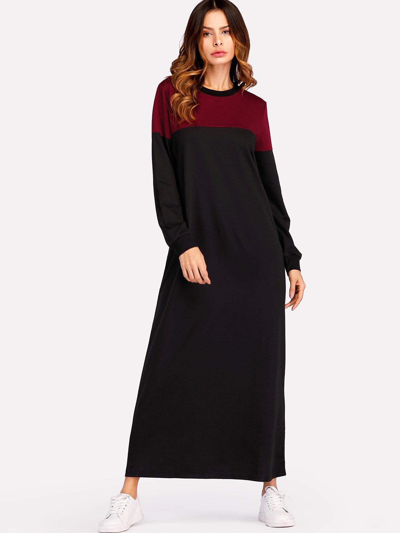 все цены на Color Block Sweatshirt Dress
