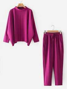 Conjunto de top extragrande y pantalones