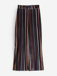 Striped Wide Leg Velvet Pants