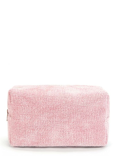 Chenille Zipper Makeup Bag