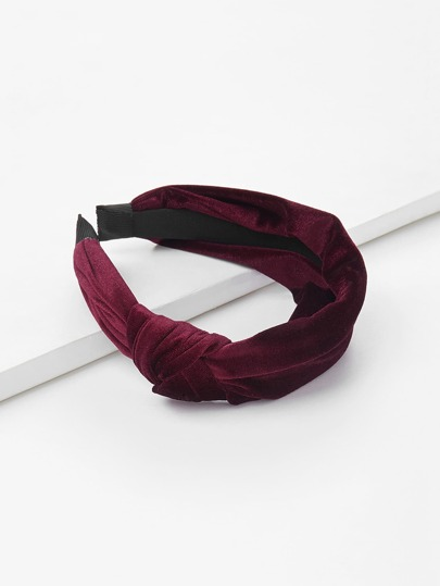 Knot Design Velvet Headband