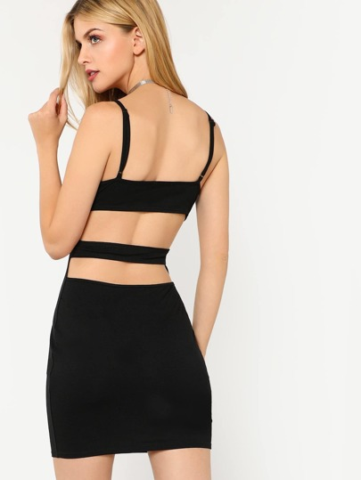 Cutout Back Cami Dress