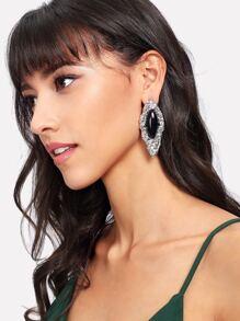 Two Tone Stud Earrings