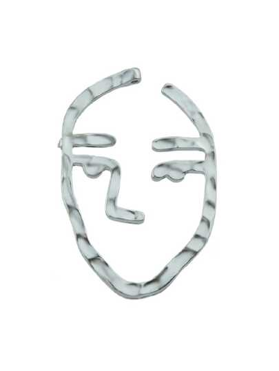 Silver Face Shape Brooches Fashion Women Accessories
