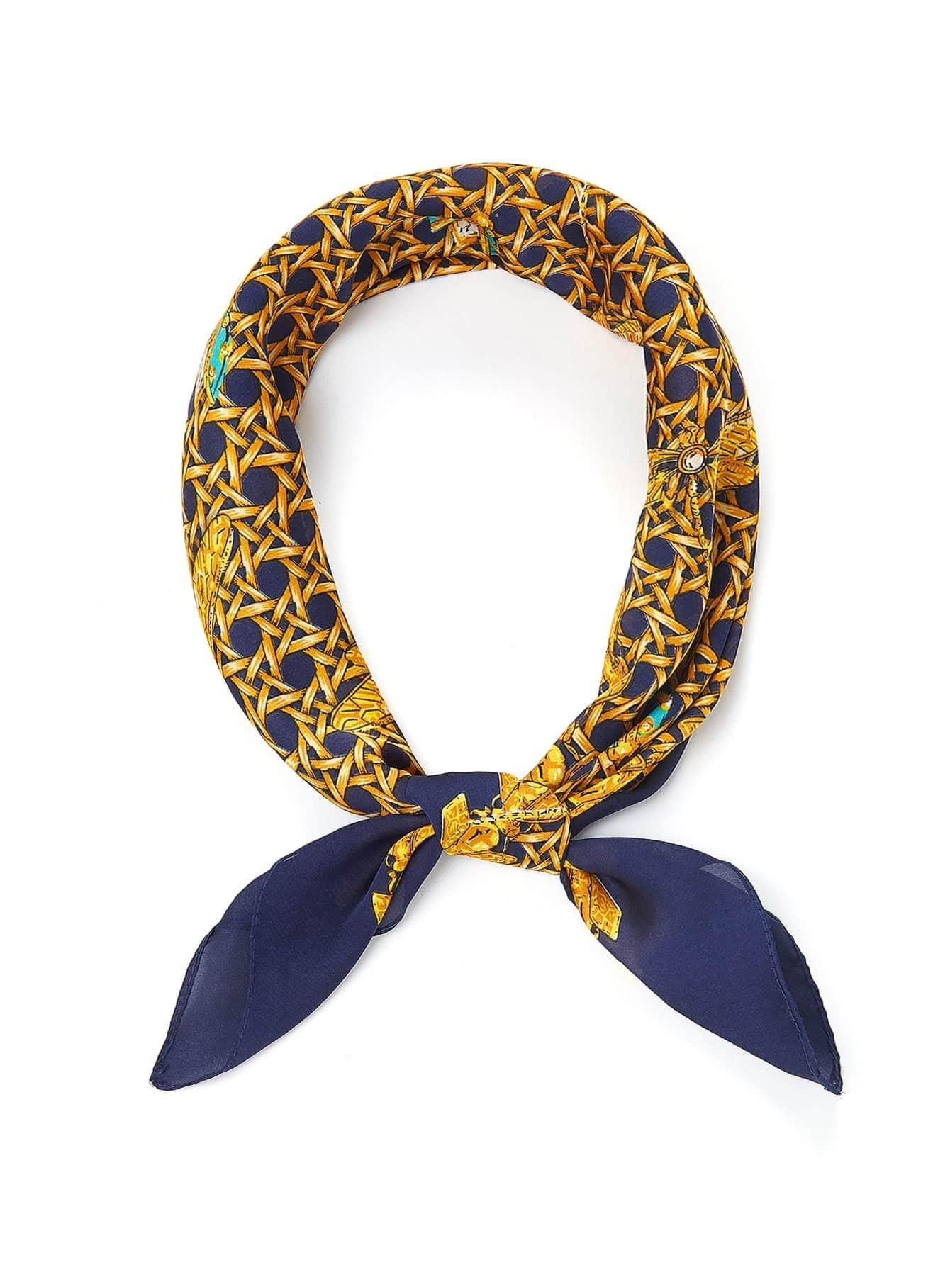 Insect Print Bandana Scarf color block geometric bandana scarf