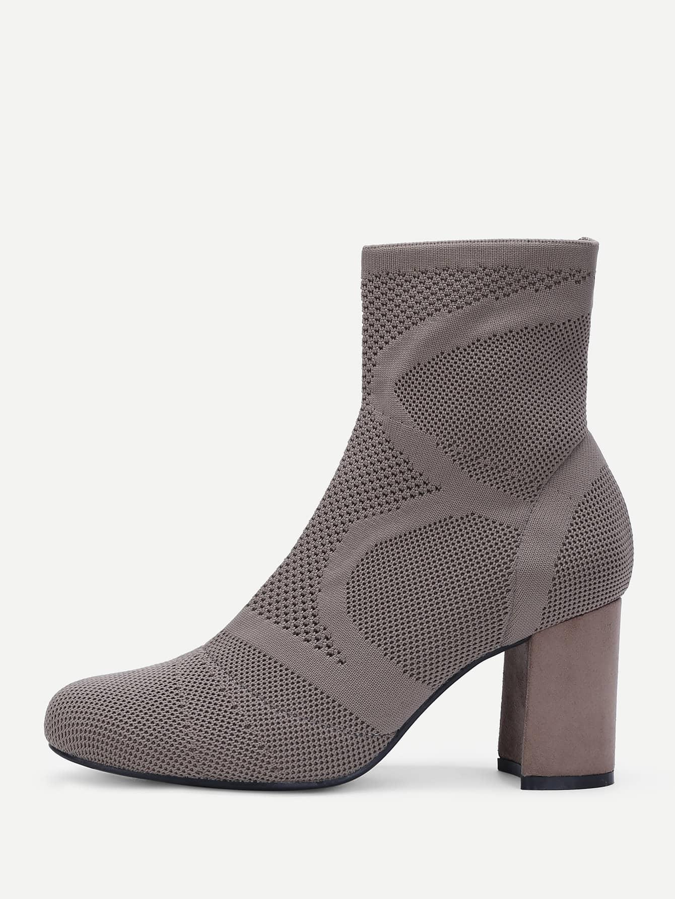 Купить Модные полусапожки на каблуках, null, SheIn