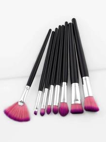 Ensemble de Pinceau de maquillage bicolore