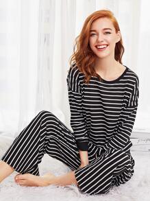 Striped Long Pajama Set