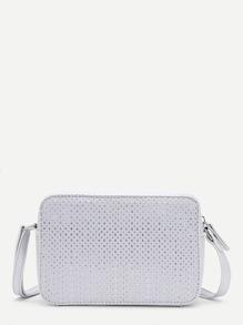 Zipper Detail PU Crossbody Bag