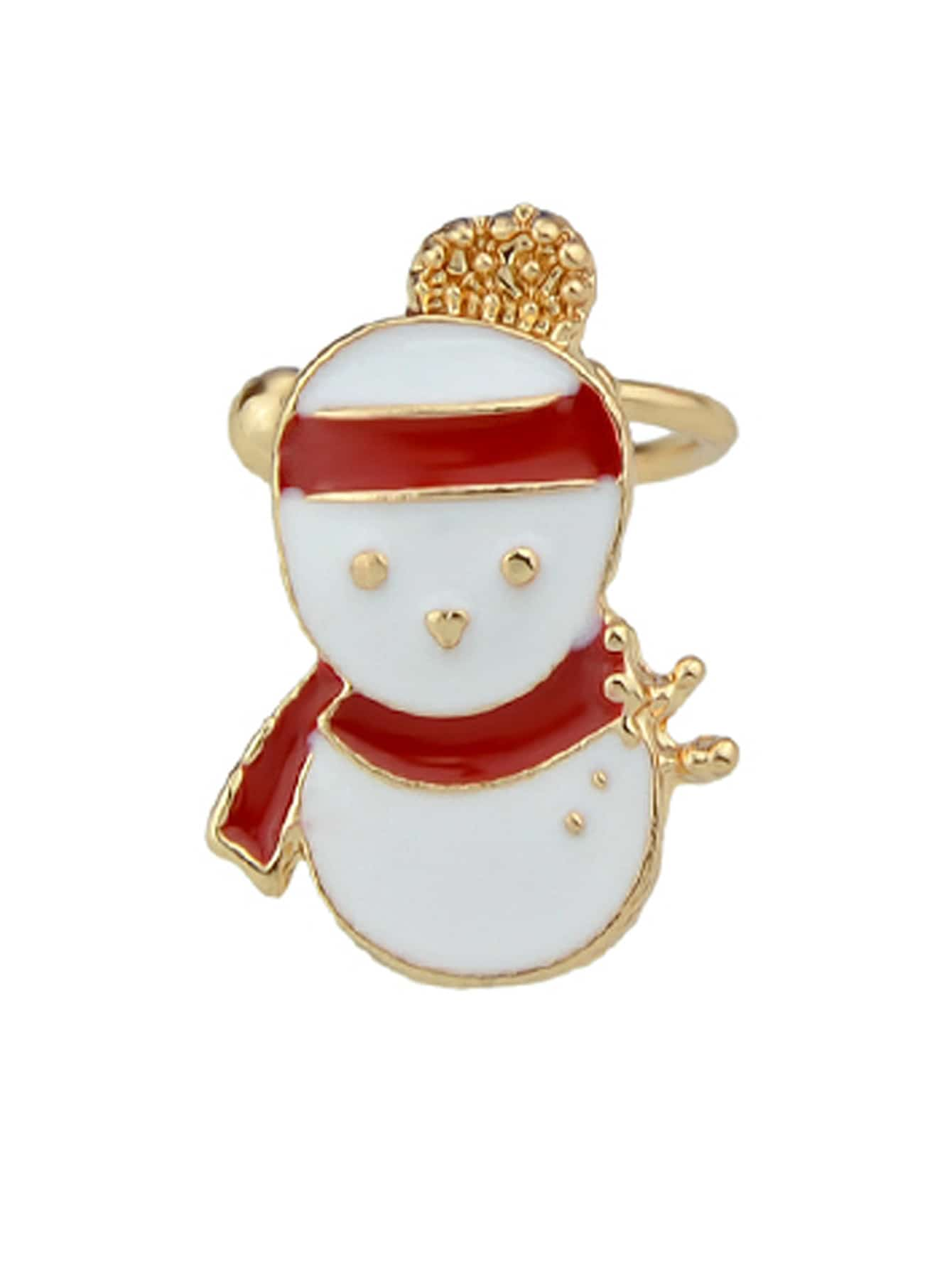 Snowman 1Pc Christmas Jewelry Enamel Santa Snowflake Bell Deer Gift Box Snowman Ear Cuff Cartilage Clip Earrings