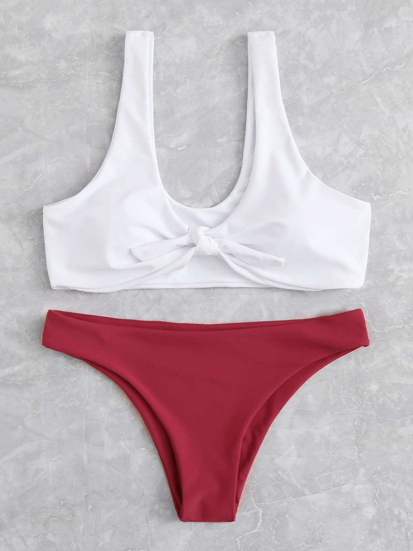 Mix And Match Knot Bikini Set small beginnings mix and match