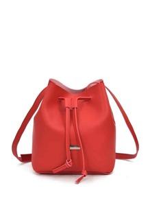 Drawstring Bucket Bag
