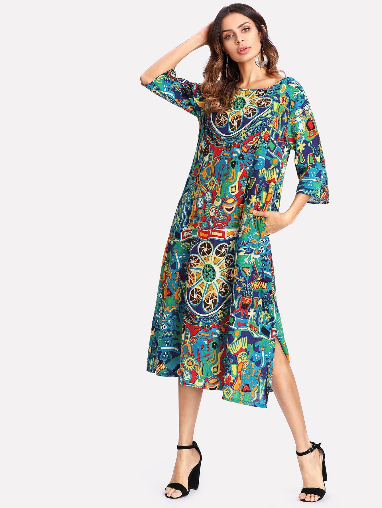 Plus Split Side Dress