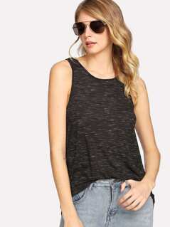 Knot Back Space Dye Tank Top