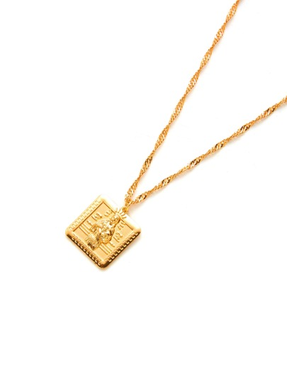 Geometric Pendant Chain Necklace