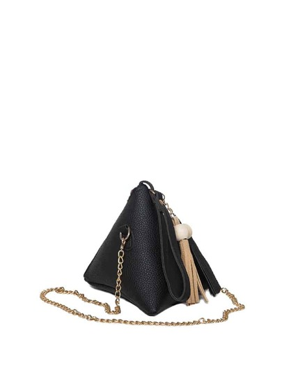 Tassel Decor Pyramid Chain Bag