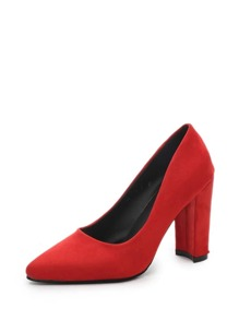 Pointed Toe Chunky Heels
