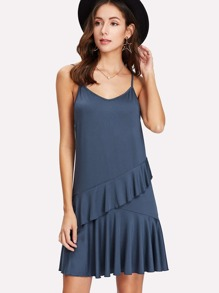 Flounce Trim Cami Dress