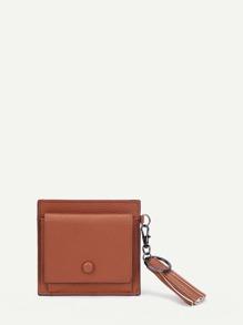 Tassel Detail PU Wallet