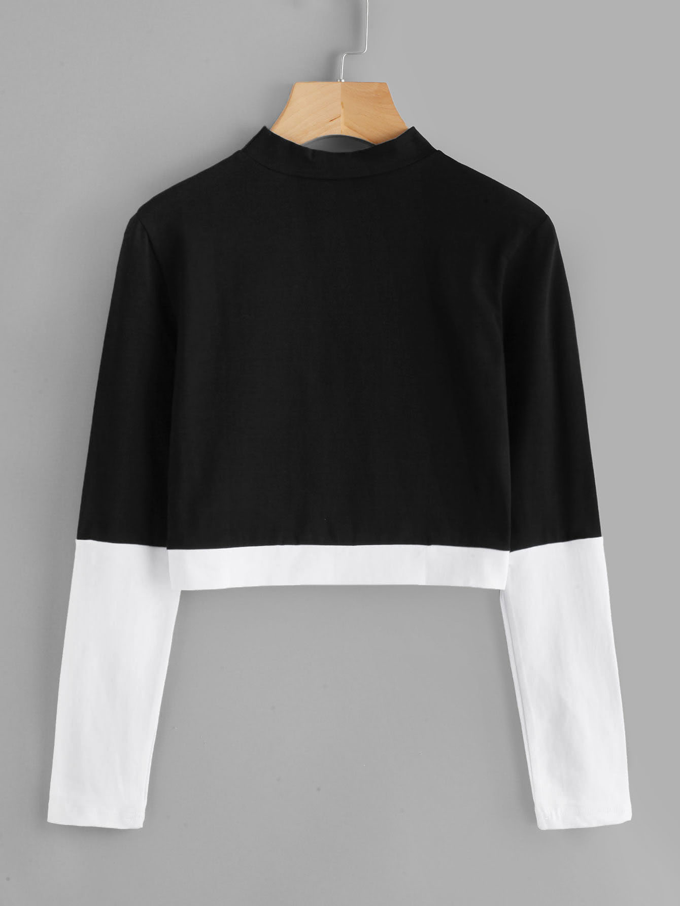Stand Collar Color Block Tee все цены
