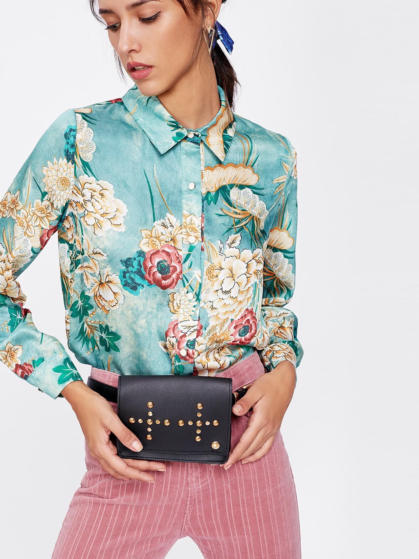 Купить Модный пояс и модная сумка с заклепками, null, SheIn