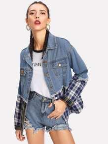 Контрастная модная куртка
