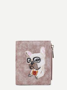 Cartoon Animal Embroidery PU Wallet