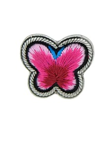 Red Handmade Embroidery Butterfly Finger Ethnic Rings