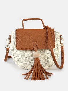 Two Tone Knitted Purse CREAM