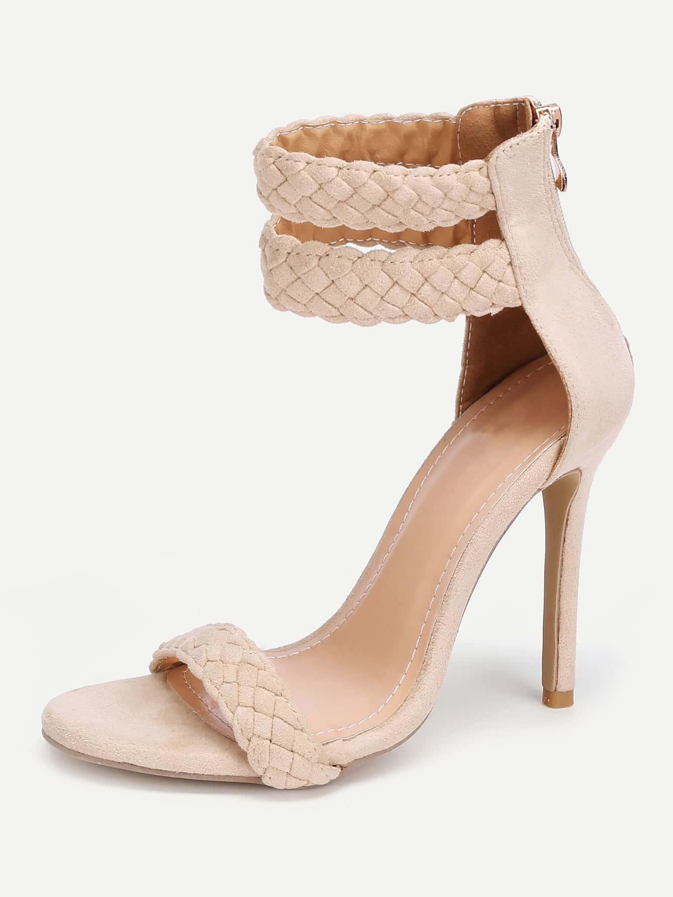 Sandales talons avec zip derri re french romwe for Acheter maison suede