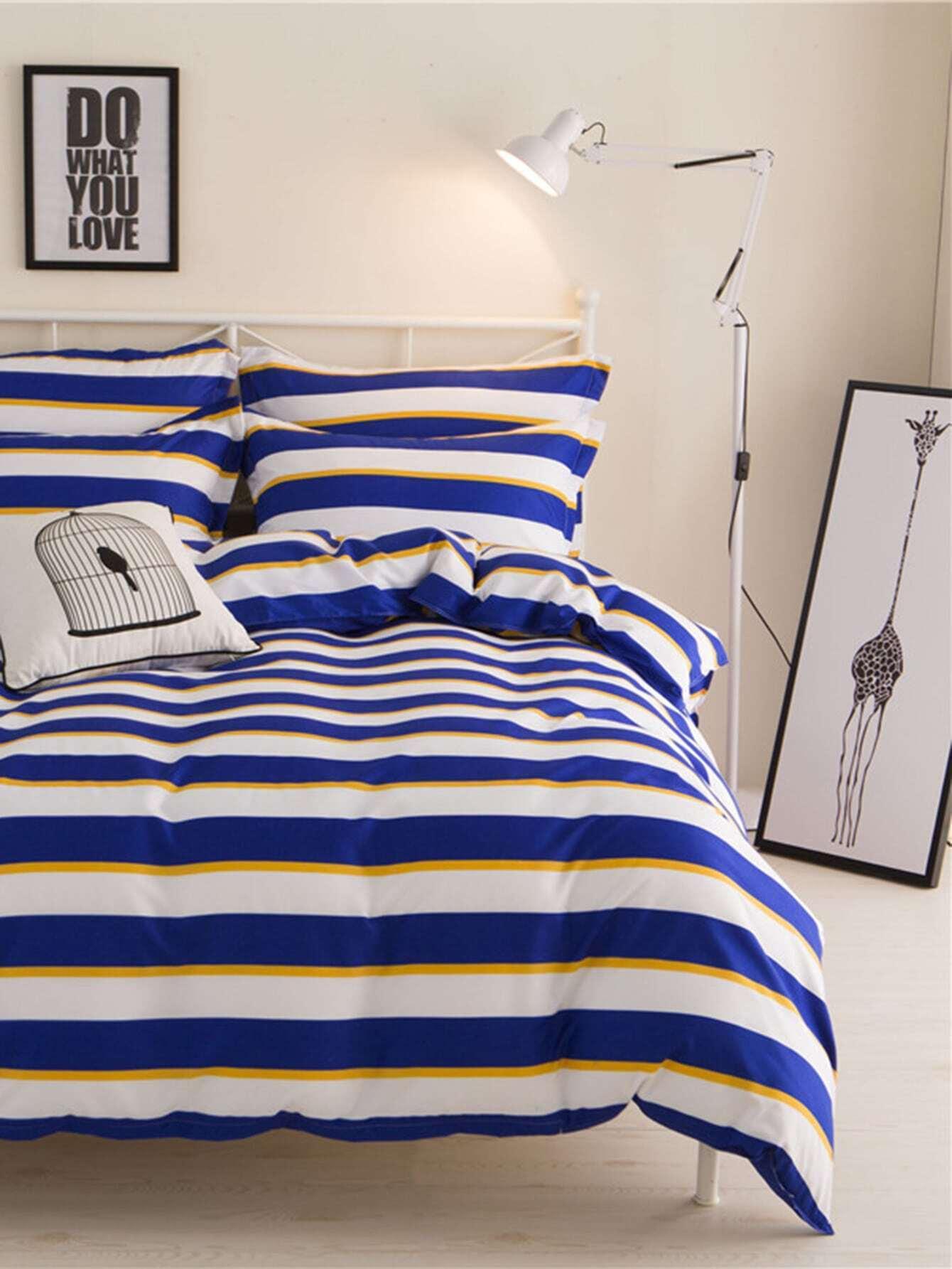 2.2m 4Pcs Блок полосатый комплект постельного белья