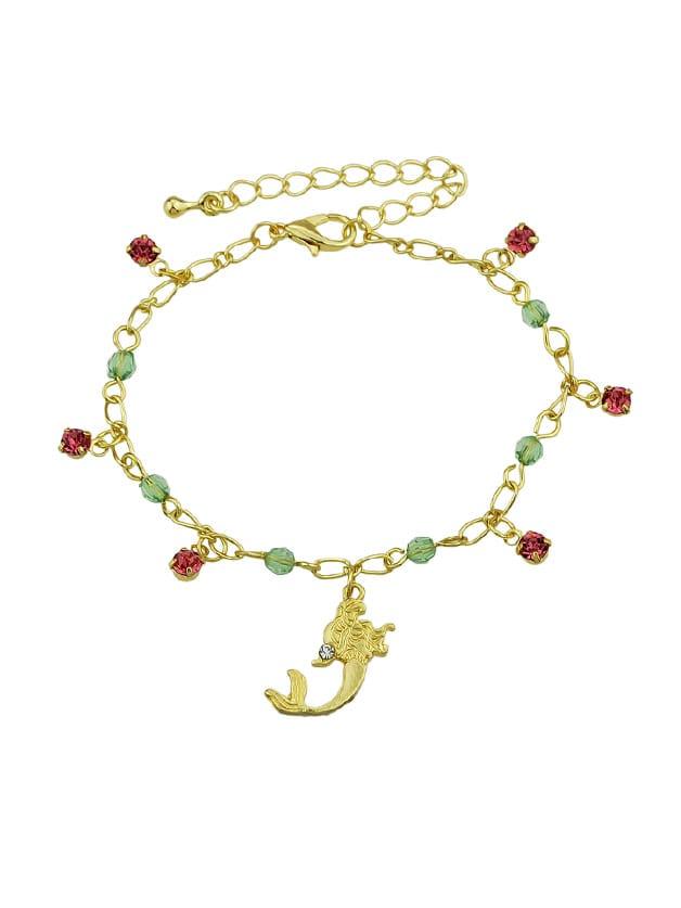 Rhinestone Mermaid Charm Bracelets & Bangles Women a suit of rhinestone owl charm bracelets