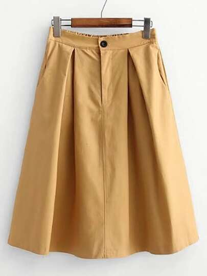 Knee Length Pleated Skirt