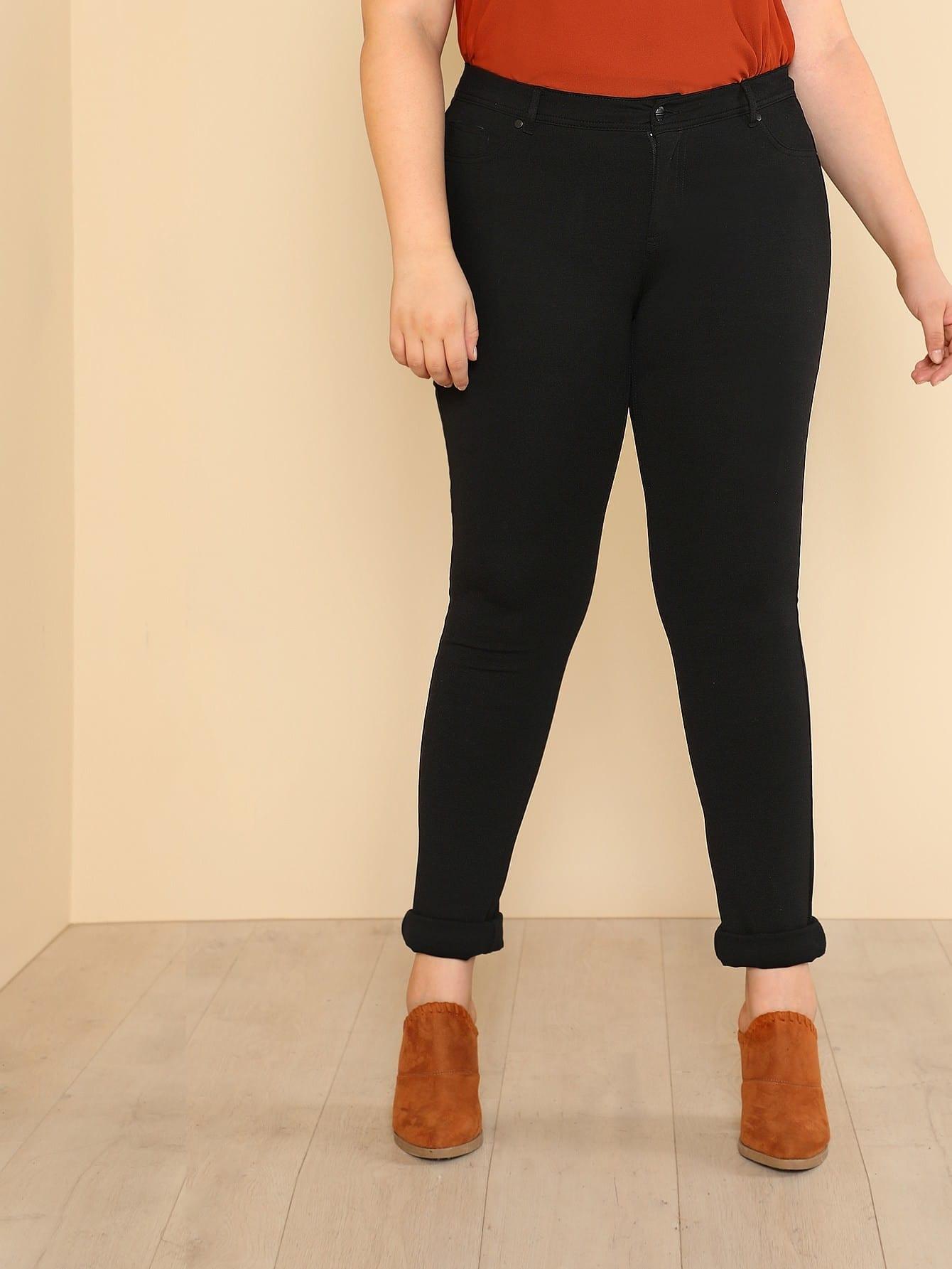 Slim Fit 5-Pocket Black Ponte Pants футболка wearcraft premium slim fit printio шварц