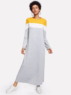 Cut And Sew Sweatshirt Dress