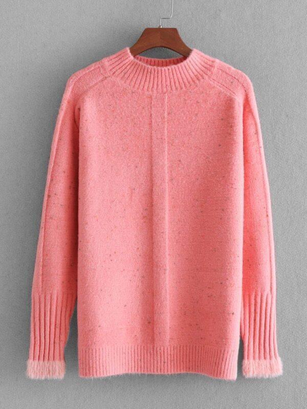 Rib Trim Jumper Sweater