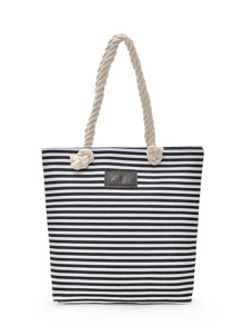 Striped Detail Shopper Bag
