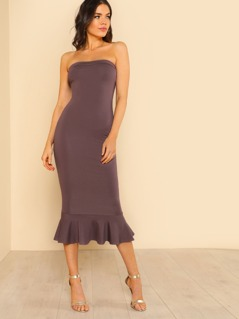 Mermaid Hem Tube Dress LAVENDER