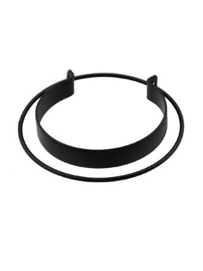 Black Open Cuff Statement Bracelet
