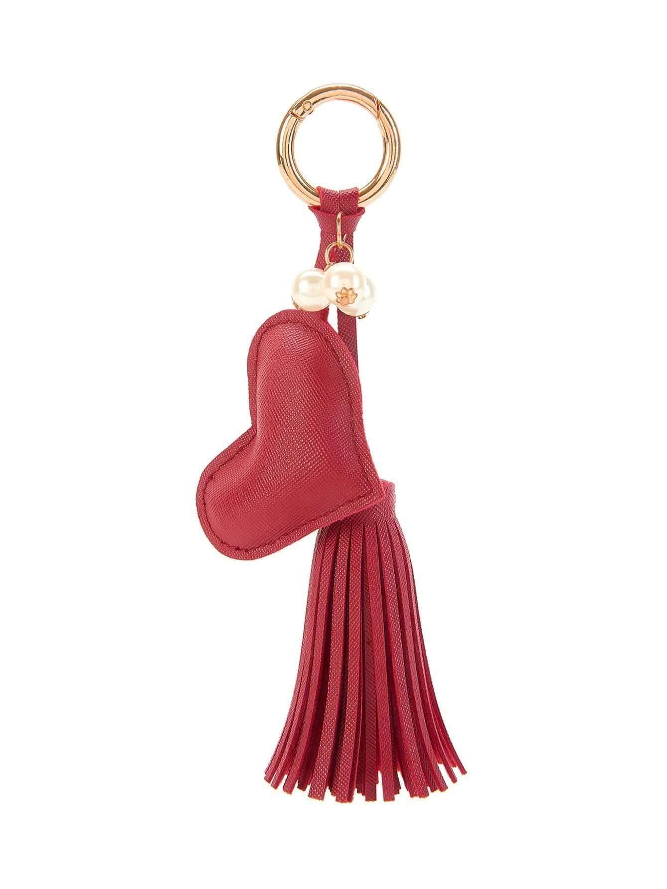Heart Design Tassel Keychain puzzle heart design keychain set 2pcs