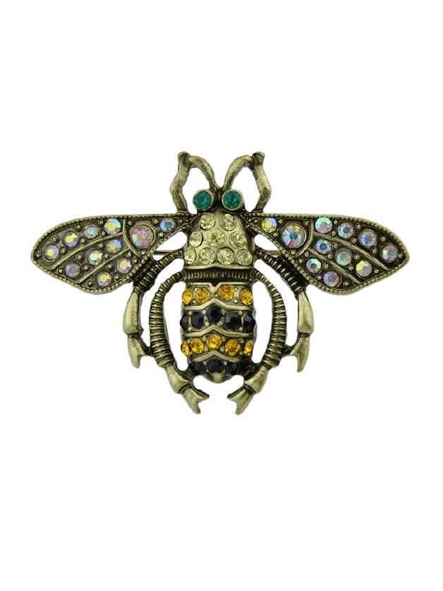 Rhinestone Insect Bee Women Brooches Accessories стеклянный шар house of seasons d 8см золото узоры 83187зу