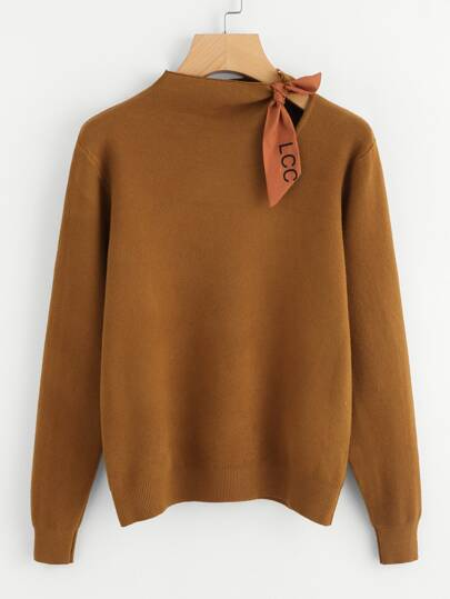 Knotted Detail Jersey Jumper