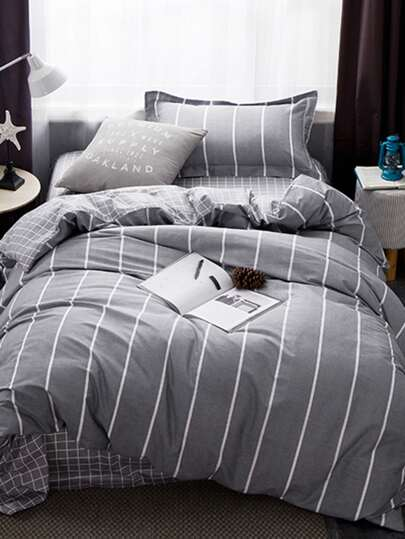 1.5m 3Pcs Striped Bedding Set
