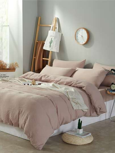 1.5m 4Pcs Simple Solid Duvet Cover Set
